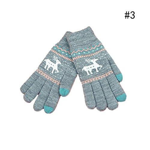 (ドリーミー ハット) Dreamy hut レディース 手袋 スマホ対応 編み物 防寒保暖 グローブ 自転車 アウトドア 通勤に 誕生日 クリスマス プレゼント フリーサイズ