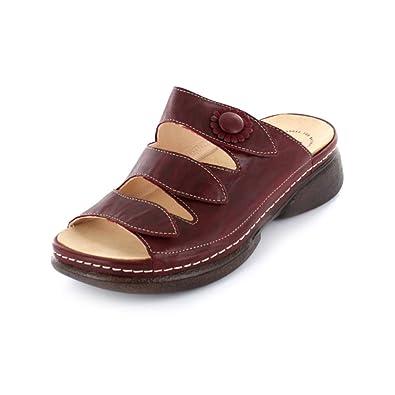 Think Cambio Damen Pantolette aus Glattleder in rot Größe 39 Rot (rosso komb) TDckooD