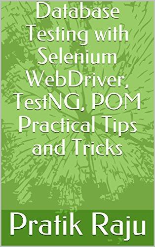 Amazon Com Database Testing With Selenium Webdriver Automation Tool