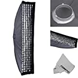 "Fomito 35x160cm / 13.78"" x 63"" Studio Lighting Photo Softbox Bowens Mount with Honeycomb Grid For Light Flash,for Godox,for Jinbei,for Neewer Strobe/Flash Light and Other Studio Flash Light"