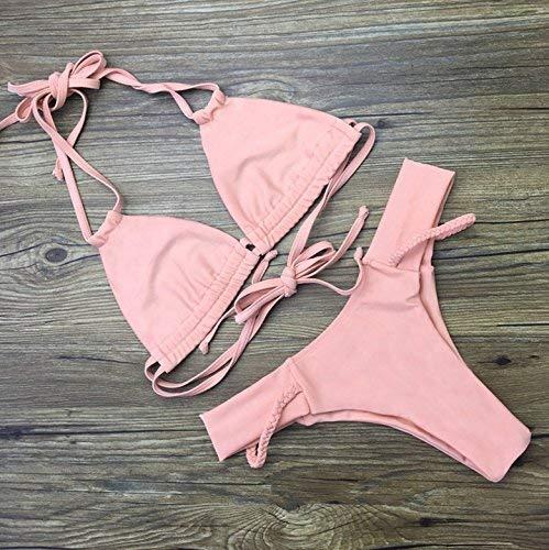 Punti Diviso Costume Tre A Bikini Dimensione Con Bagno S Da colore Zhrui Intrecciata Fasciatura S bikini wCtxqfYw