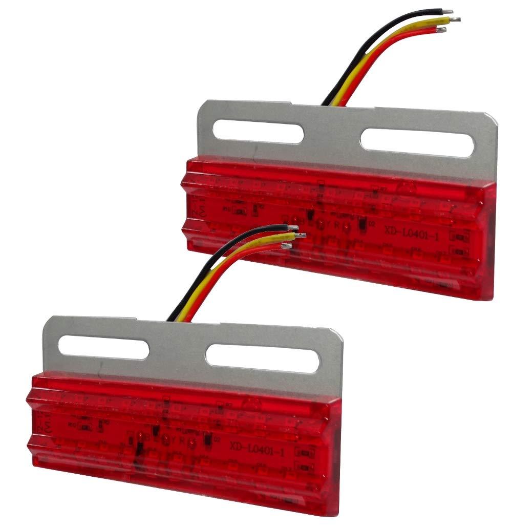AERZETIX 2x Luces de g/álibo LED 12V color rojo C41199