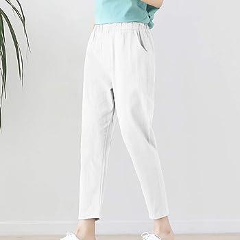 cinnamou Pantalones Mujer, Casual Pantalones Chinos Talla Grande ...