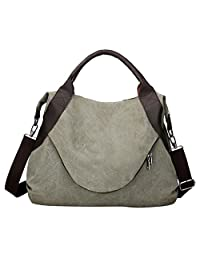 Canvas Handbags - Bageek Hobo Handbags Tote Bag Top Handbag Women Shoulder Bag Satchel Purse