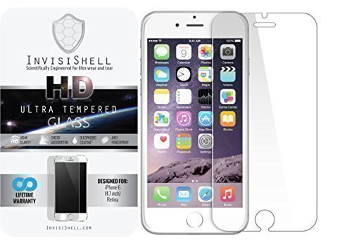 Apple iPhone 6 [4.7] Ultra Tempered Glass Screen Protector | Ballistic Slim Anti Scratch Shield w/ Full HD Clarity | Better Cell Phone Accessories by InvisiShell
