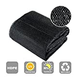 Agfabric 80% Sunblock Shade Cloth Cover with Clips for Plants 10' X 30', Black
