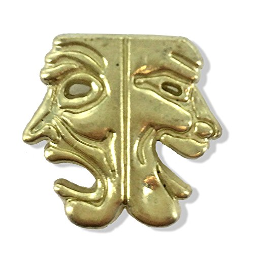 Awards and Gifts R Us 7/8 Inch Drama Masks Chenille Gold Lapel Pin - Package of 20, Poly Bagged - Large Drama Masks