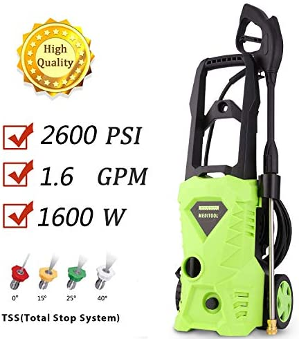 Homdox Electric High Pressure Washer 2600PSI 1.6GPM Power Pressure Washer Machine