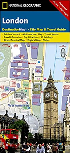 London Points Of Interest Map.London National Geographic Destination City Map National