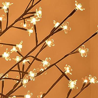 Strong Camel 6ft Christmas light tree 180 LED Cherry Blossom Flower Tree Light Home Garden Decoration