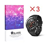 HuaWei watch 2 Tempered Glass Screen Protector, Addprime Anti-Bump Scratch Resistant HD Screen Protector 0.26mm Slim 3 Pack for HuaWei watch 2