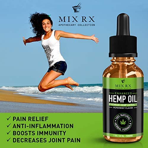 2 Pack Hemp Oil for Pain Relief Anxiety Sleep Mood Stress Immune Immunity Support  500mg  Best Pure