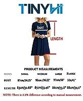 TINYHI Women's Swing Loose T-Shirt Fit Comfy Casual Flowy Cute Swing Tunic Dress