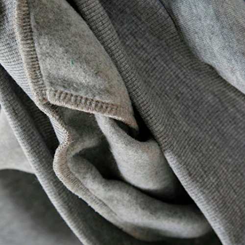 Goodsatar De las mujeres Sudadera con capucha de manga larga O-cuello Jumper Sudadera Pullover Tops Blusa Gris1