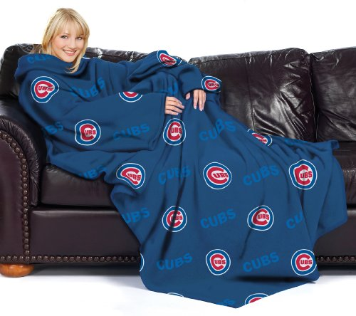 Cubs Throw Blanket - The Northwest Company MLB Chicago Cubs Comfy Throw Blanket with Sleeves