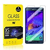 Galaxy Note 4 Screen Protector Film, UNEXTATI® Tempered Glass Screen Protector, HD Clear