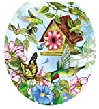 Toilet Tattoos TT-LS02-R Hummingbirds Design, Round