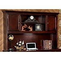 Furniture of America CM-DK6207H Desmont Cherry Desk Hutch Miscellaneous-Home Office