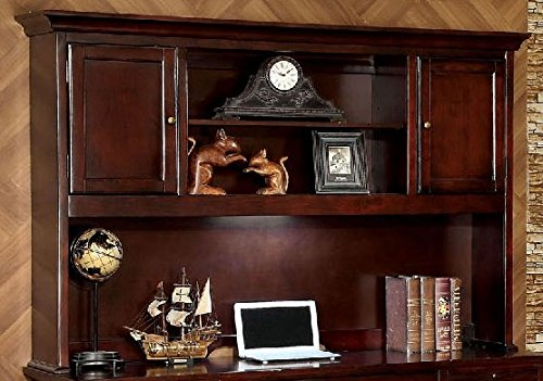 Furniture of America CM-DK6207H Desmont Cherry Desk Hutch Miscellaneous-Home Office