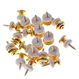 20 Pairs Mushrooms Head Guitar Strap Buttons Strap Locks Gold Guitar Parts