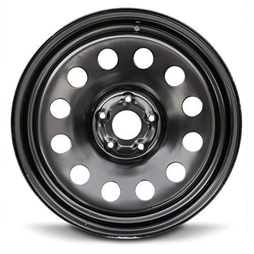 Steel Tire Black - Road Ready Car Wheel For 2002-2008 Dodge Ram 1500 20 Inch 5 Lug Black Steel Rim Fits R20 Tire - Exact OEM Replacement - Full-Size Spare