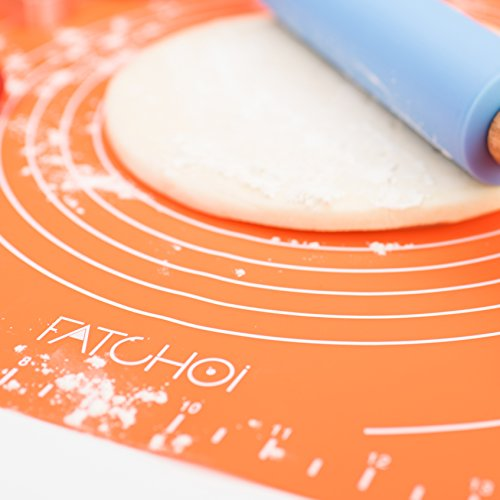 photo Wallpaper of FATCHOI-FATCHOI Silicone Baking Mat For Pastry Rolling With Measurements Non Stick,-Orange