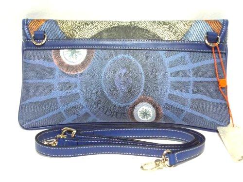 Gattinoni Donna Nettuno Shoulder Bag Pochette Borsa Tracolla a mano Bluette Cm 30x16x3