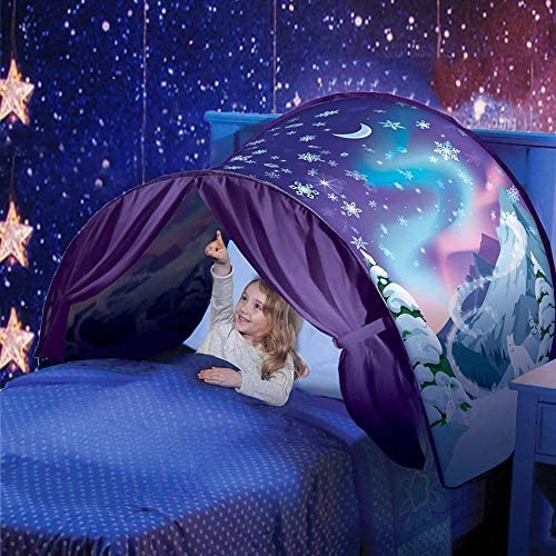 GbaoY Foldable Galaxy Starry Sky Dream Tent Kids Pop Up Bed Tent Fairy Playhouse Play Tent Bedroom Festival Decoration Tent Space Adventure