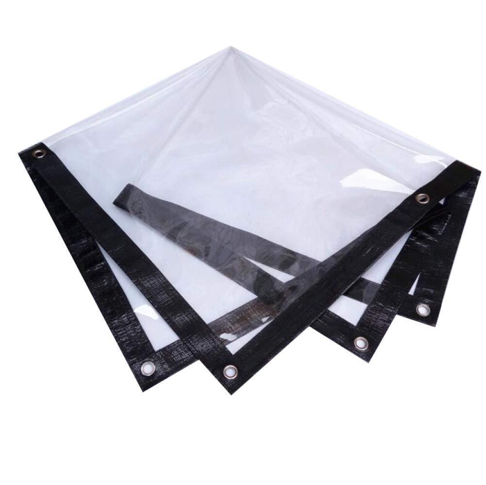 4×6 Clear Tarpaulin Waterproof Heavy Duty Tear Resistance AntiAging Insulation PE Plastic Cloth, Thickness 0.13mm,4×6