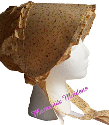 Mennoinite Maidens Baby Amish Prairie Sun Bonnet (Sun Dress Yellow) (Bonnet Yellow)