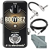 TC Electronic BodyRez Acoustic Pickup Enhancer Pedal and Accessory Bundle w/ Cables + Fibertique Cleaning Cloth