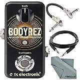 TC Electronic BodyRez Acoustic Pickup Enhancer Pedal and Accessory Bundle w/ Cables + Fibertique Cleaning Cloth