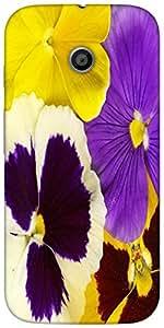 Snoogg Closeup Of Colourful Viola Tricolor Designer Protective Back Case Cove...