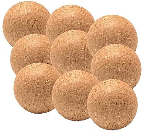 Billares y dardos Cámara Bolas de futbolín 9 unidades de madera Haya 14gr: Amazon.es: Hogar