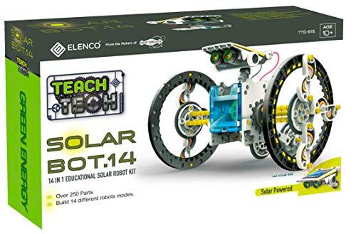 51zhwGcuQNL - Elenco Teach Tech SolarBot.14, Transforming Solar Robot Kit, STEM Learning Toys for Kids 10+