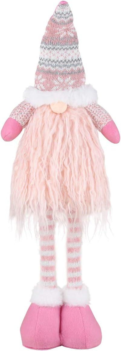 Decoración navideña sin Rostro, Decoraciones navideñas GNOME 57cm de Altura, gnomo Sueco de Santa Claus Santa Tomte, Regalos Enanos escandinavos para niños, Muñeca de Navidad Linda (Pink)