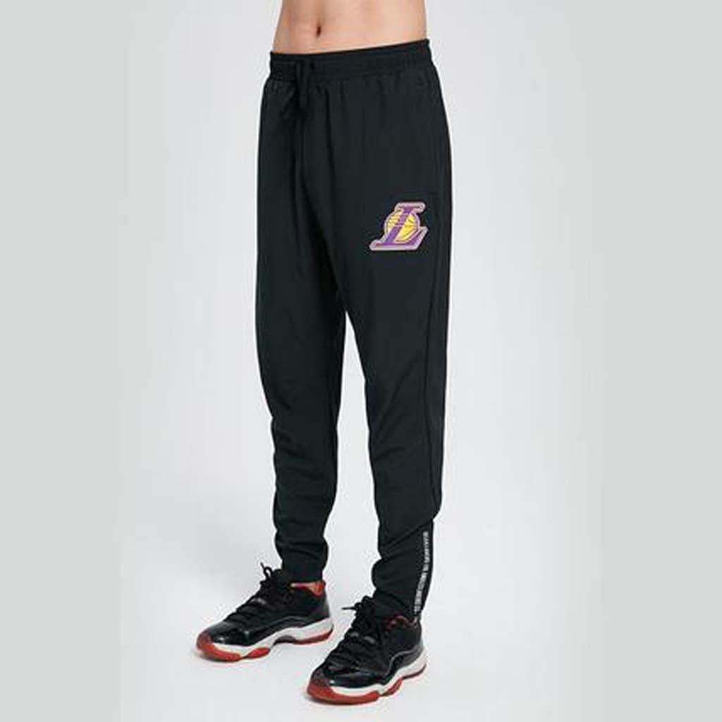 HYYSH Pantalones Deportivos Lakers Pantalones Deportivos Serie NBA ...