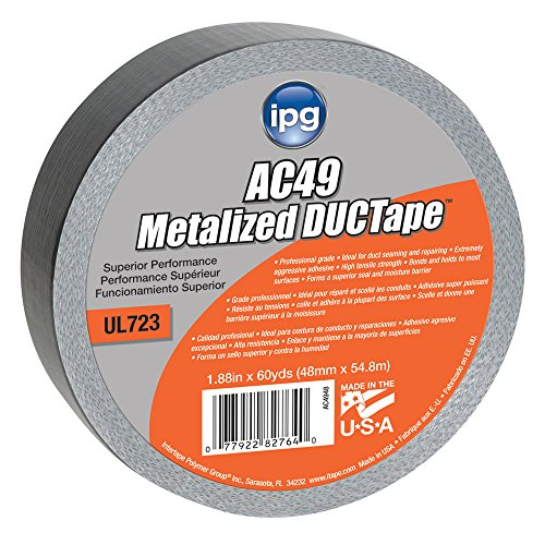 Intertape Polymer Group AC4948 Silver Metalized Duct Tape, 1