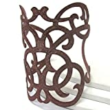 Rust Colored Filigree Scrollwork Adjustable Cuff Bracelet withTextured Finish 7.5″