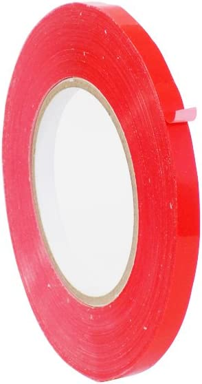 WOD BSTC24PVC Red Produce Poly Bag Sealing Tape, 3/8 in. x 180 yds. (Pack of 1) (Available in Multiple Sizes & Colors)