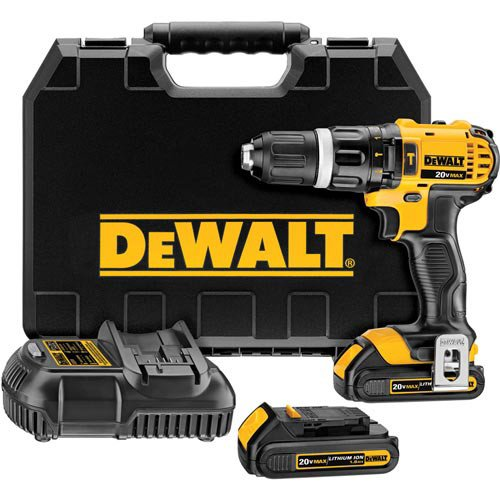 Dewalt DCD785C2R 20V MAX Cordless Compact Hammer Drill Driver Kit Reconditioned ()