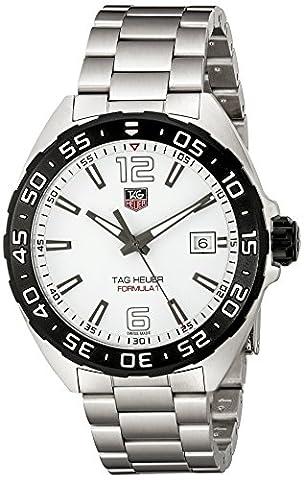 TAG Heuer Men's WAZ1111.BA0875 Silver-Tone Stainless Steel Watch (Bezel Tag Heuer)