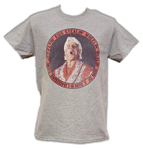 Ric Flair Limousine Ridin Jet Flyin WWE Mens Gray T-shirt-M by WWE
