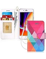 FYY iPhone 8 Plus case, iPhone 7 Plus case, [RFID Blocking Wallet] Handmade Preminum PU Leather Wallet Case for iPhone 8 Plus/7 Plus