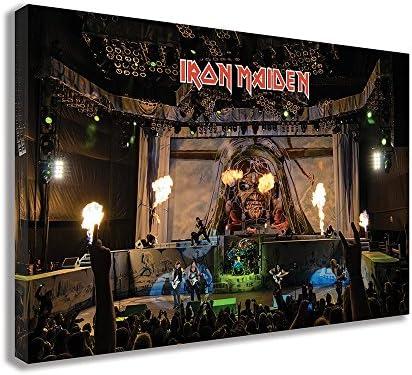 Iron Maiden Concert Canvas Wall Art 30 X 18 / 75 X 45cm