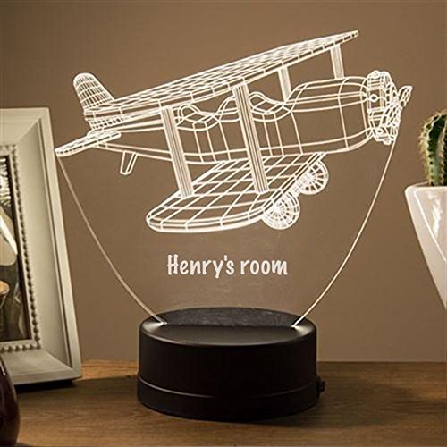 Customizable 3D Glider Led Night Light - Add Your Name for FREE (White)