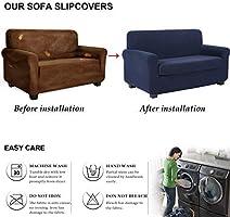 Amazon.com: TIANSHU 2 Piece Sofa Slipcover, Stretch Couch ...