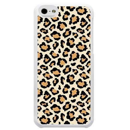 Brown Cheetah Leopard White Case Cover For Apple iPhone 5 5S 5SE with Free - Charger Iphone Cheetah 5s