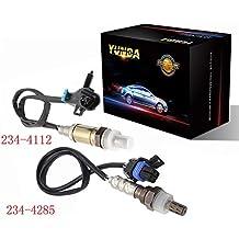 YUNDA Oxygen Sensor O2 Upstream and Downstream 1x 234-4112 1x 234-4285 for 2002-2003 Chevrolet Trailblazer GMC Envoy Oldsmobile Bravada Isuzu Ascender 4.2L
