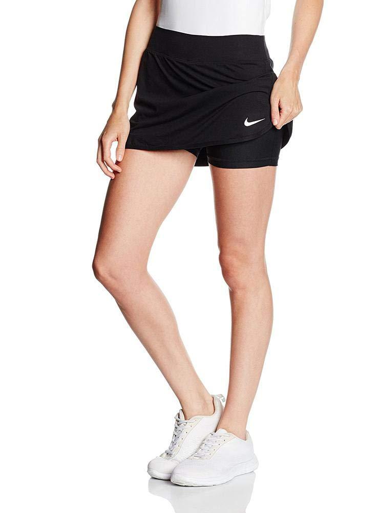 Nike Women's Pure Skirt, Black/White LG by Nike (Image #1)